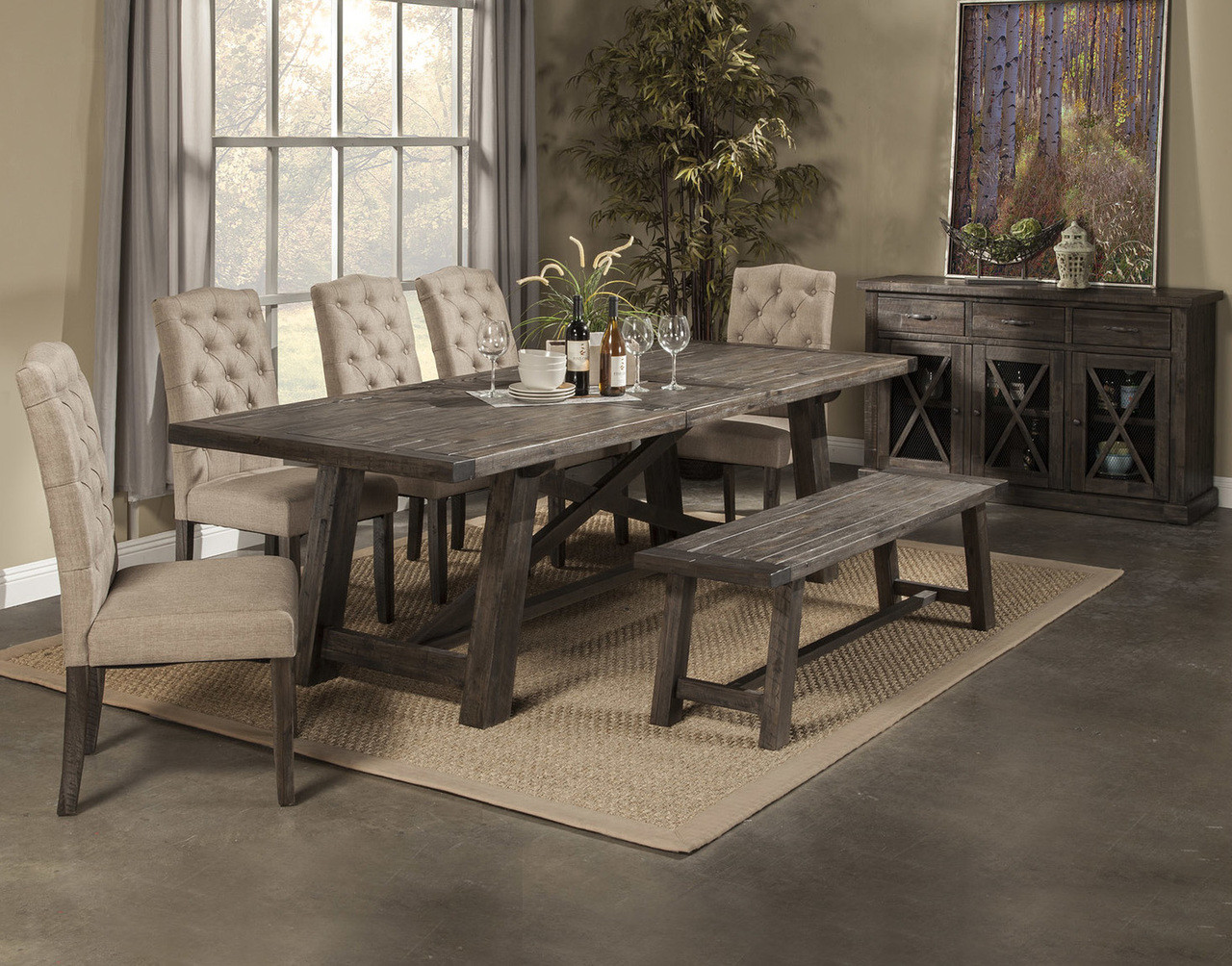 Newberry Dining Table Set By Alpine Furniture ...