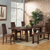 Antique Cappuccino Dining Table Set by Alpine Furniture