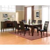Havenhurst 7 PC Merlot Dining Table Set by Alpine Furniture