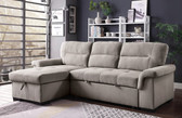 L Shaped Convertible Sleeper Sofa with Chaise