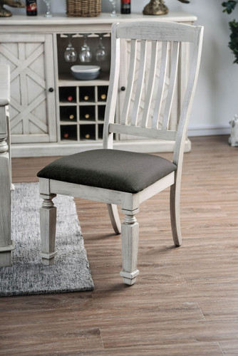 Georgia Rustic Antique White Country Inspired Chairs