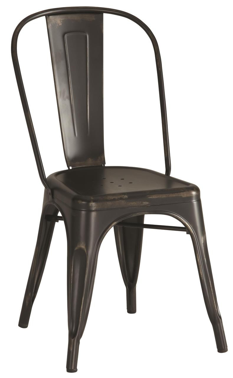 Exceptional Antique Black Rustic Metal Chairs By Coaster Furniture ...