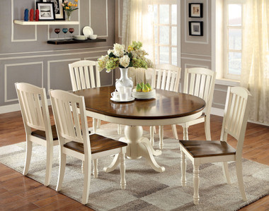7 PC Oval Extending Table Set by Furniture of America