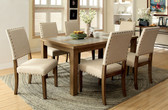 Melston 6 PC Natural Dining Table Set by Furniture of America