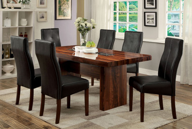 Bonneville 7 PC Brown Cherry Dining Table Set by Furniture of America