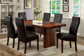7 PC Brown Cherry Dining Table with chairs