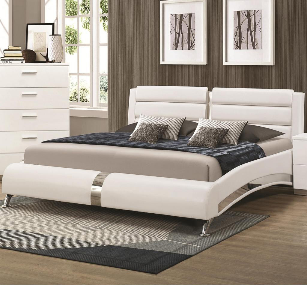 Coaster Furniture 300345q White Bed Platform Bed