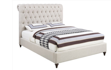 Coaster 300525 Beige Fabric Low Profile Bed