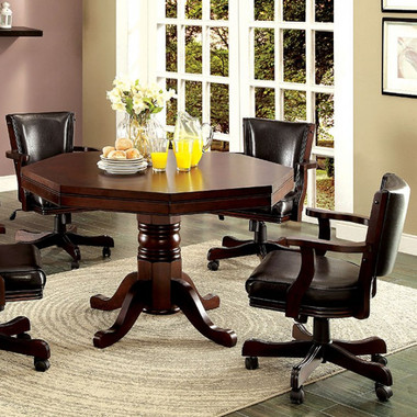 Furniture of America GM341 Combination Table with Chairs | Dining Table for 4