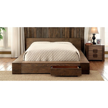 Furniture Of America Low Profile Bed W Drawers In Queen