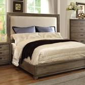 Furniture of America CM7615 Natural Ash Upholstered Bed