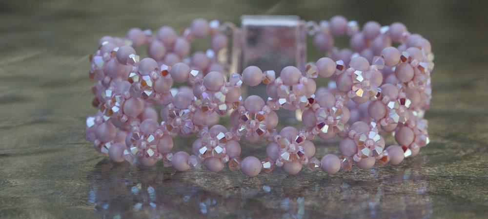 Go Pink Bracelet by Ellen Clark