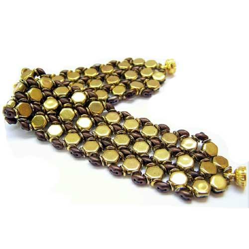 Free Honeycomb Bracelet Project