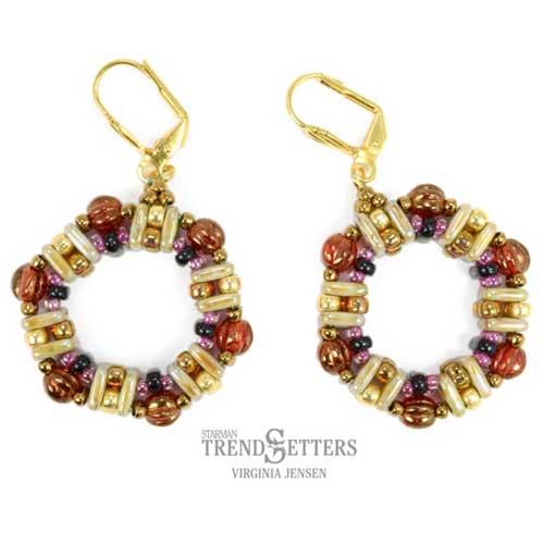 quadratile honeycomb earrings