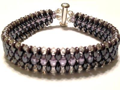 Superduo Swarovski Crystal Bracelet