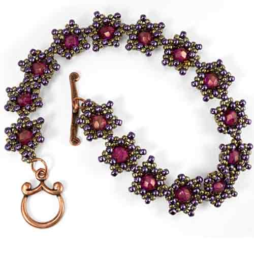 Free Beading Pattern Star Power Bracelet