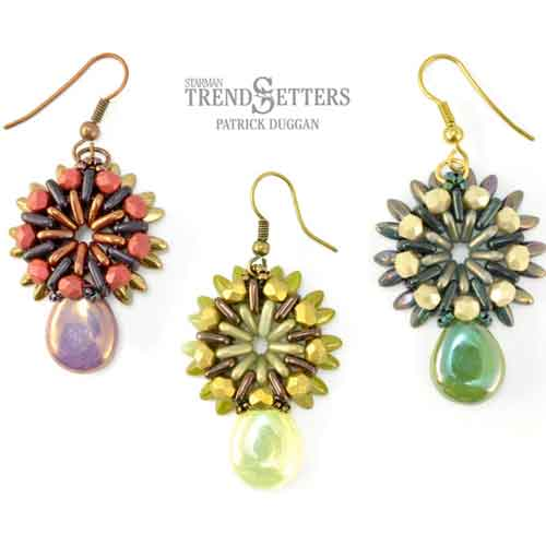 Free Beading Pattern Sunray Earrings