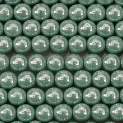 6mm Round Druk Beads TURQUOISE LUSTER