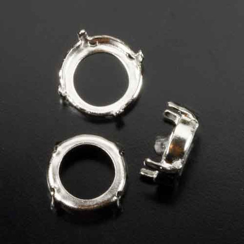 12mm SEW ON ROUND RIVOLI SETTING prongs