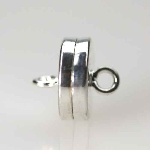 Silver Plated MAGNETIC DISC Clasp