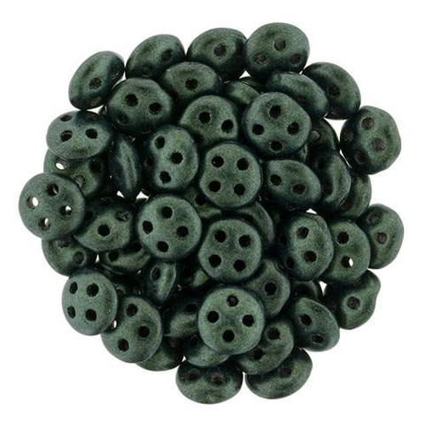 DARK FOREST METALLIC SUEDE QuadraLentil Beads