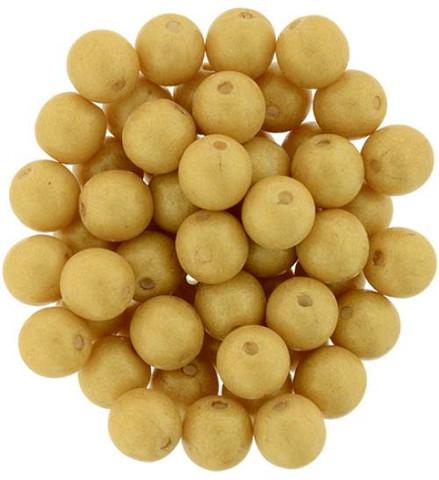 6mm Round Druk Beads GINGER PACIFICA