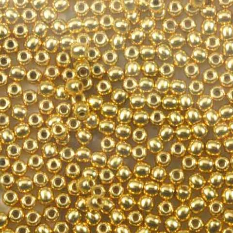 2mm Round Druk Beads GOLD