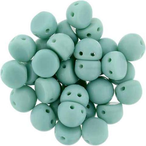 2-Hole Cabochon Beads TURQUOISE