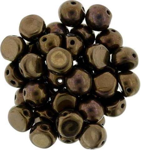 2-Hole Cabochon Beads DARK BRONZE