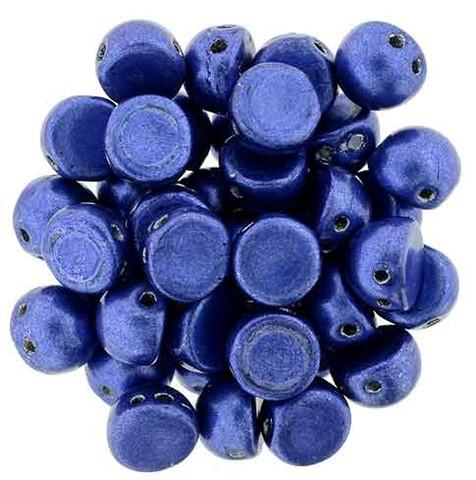 2-Hole Cabochon Beads RIVERSIDE SATURATED METALLIC