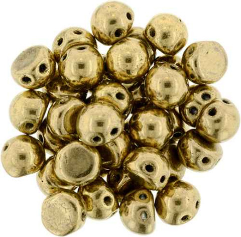 2-Hole Cabochon Beads BRONZE