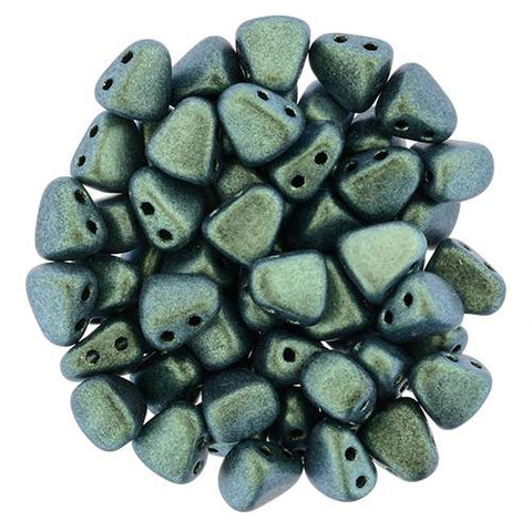Nib-Bit Beads Aqua Teal Polychrome