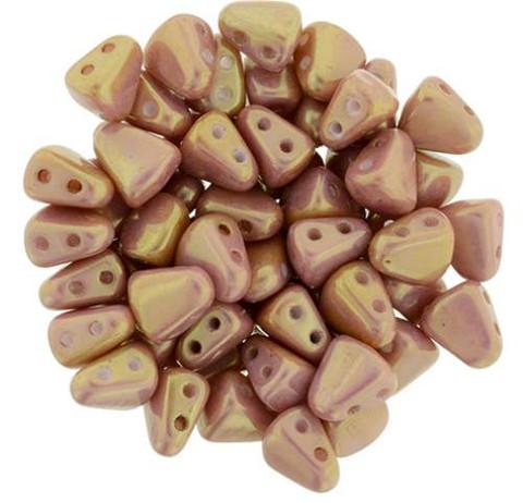 Nib-Bit Beads Pink Opaque Luster