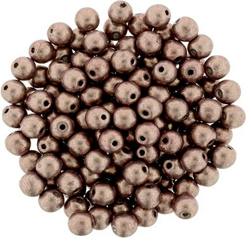 4mm Round Druk Beads AUTUMN MAPLE SATURATED METALLIC