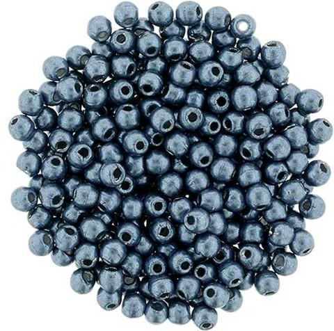 2mm Round Druk Beads NIAGARA SATURATED METALLIC