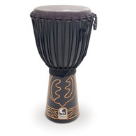 """Toca ABMD12 12"""" Black Mamba Djembe with Bag and Djembe Hat"""