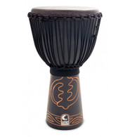 """Toca AMBD13 13"""" Black Mamba Djembe with Bag and Djembe Hat"""