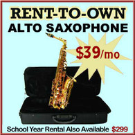 Student Rent-to-Own Alto Sax Outfit