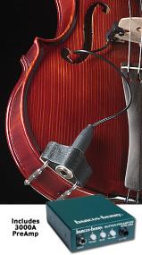 BARCUS-BERRY 3110 Clamp-On Bridge Violin Piezo Pickup with Preamp