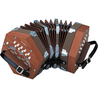 Hohner D40 Concertina with Padded Gigbag