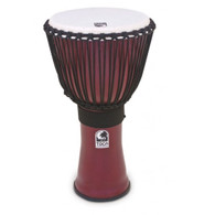 """Toca Freestyle II 14"""" Rope Tuned Djembe with Bag, Dark Red Finish"""