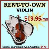 Student Rent-to-Own Violin Outfit