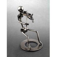 Metal Violin Player Figurine