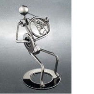 Metal French Horn Player Figurine