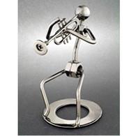 Metal Trumpet Player Figurine