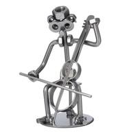 Metal Cello Player Figurine