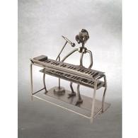 Metal Keyboard Singer Figurine