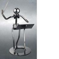 Metal Conductor Figurine