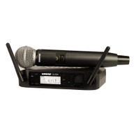 Shure GLXD24/SM58 Vocal System with GLXD4 Wireless Receiver, GLXD2 Handheld Transmitter with SM58 Microphone (SB902 Battery included)