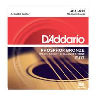 D'ADDARIO EJ17 Phosphor Bronze, Medium 13-56 Guitar Strings